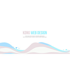 header website abstract wave style vector image