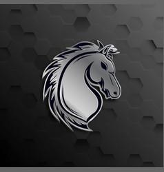 Horse head mascot logo design vector
