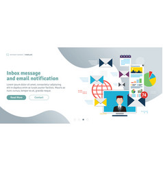 inbox message and email notification vector image