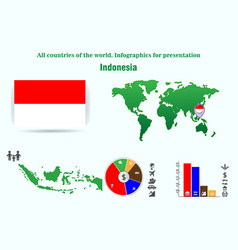 indonesia all countries of the world infographics vector image