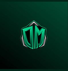initial dm logo design initial dm logo design vector image