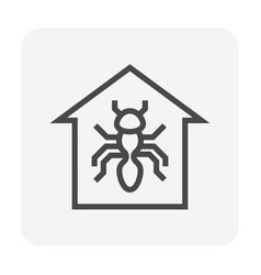 insect problem icon vector image