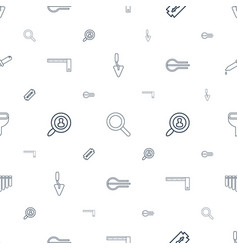 instrument icons pattern seamless white background vector image