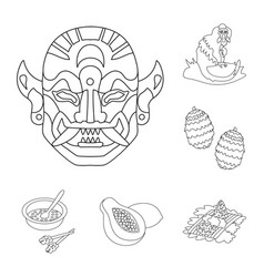 Isolated object of balinese and caribbean sign vector