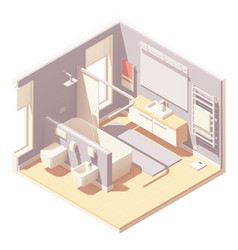 isometric bathroom interior vector image