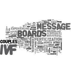 Ivf message boards explained text background word vector