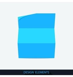 Landscape folded sheet of paper vector