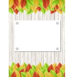 leaves template vector image vector image