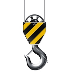Lifting hook vector image