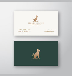 Lioness grace abstract logo and business vector