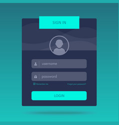 Login form design vector
