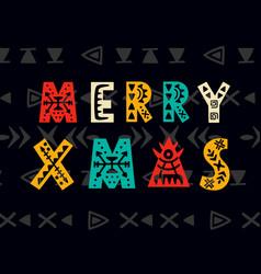 Merry christmas greeting card scandinavian style vector