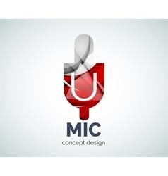 Microphone logo business branding icon vector
