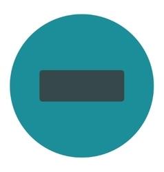 Minus flat soft blue colors round button vector