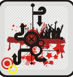musical theme graphics vector image