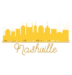 Nashville city skyline golden silhouette vector