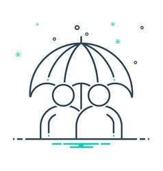 Permanent life insurance vector