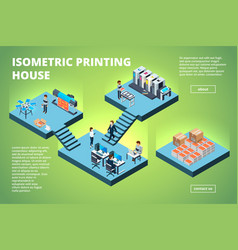 Printing house building industrial print vector
