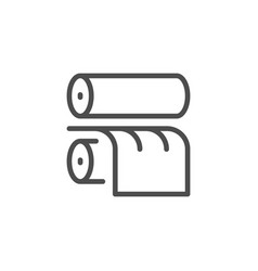 Printing rollers line icon vector