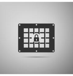 Prison window icon vector image