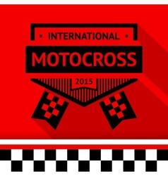 Racing stamp-16 vector image