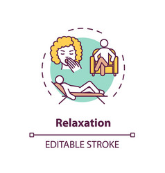 Relaxation concept icon vector