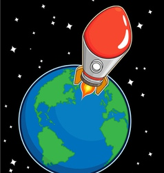 Rocket Fly from Earth vector image