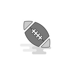 rugby ball web icon flat line filled gray icon vector image