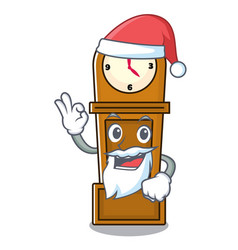 Santa grandfather clock mascot cartoon vector