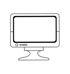Screen monitor device technology digital vector