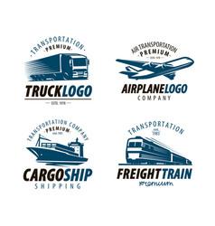 Shipping transportation logo or label cargo vector