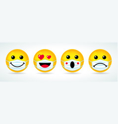 Smile love wow sad icons in medical mask vector