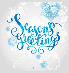 snowflakes season background vector image