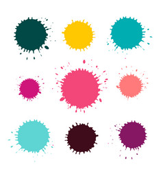 stains - blots set isolated on white background vector image