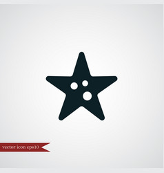 starfish icon simple vector image