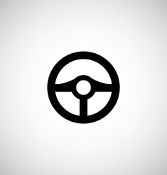 Steering wheel symbol vector