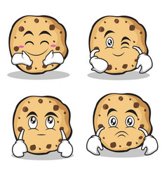 Sweet cookies character cartoon set collection vector