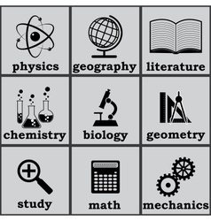 symbols education vector image