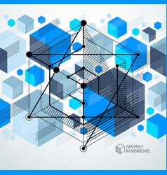 Technical blueprint blue digital background with vector