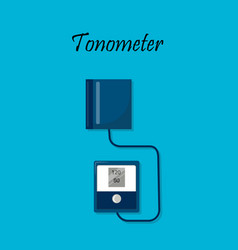 Tonometer arterial blood pressure measuring vector