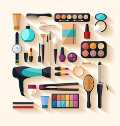 Tools for makeup vector