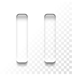 transparent pause vector image