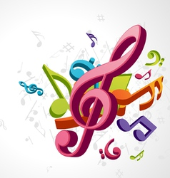 Treble clef music vector