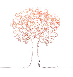 tree color on white vector image