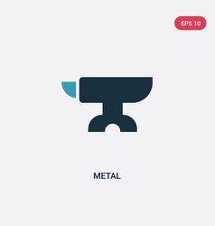 two color metal icon from tools and utensils vector image