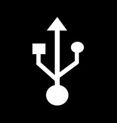 usb symbol icon design vector image