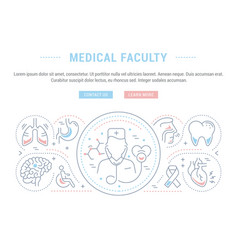 Website banner and landing page medical faculty vector