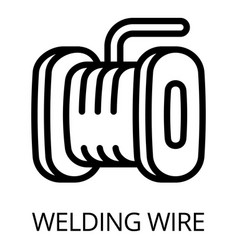 Welding wire icon outline style vector
