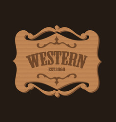 Western antique banner cardboard vector