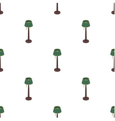 Wooden floor lamp icon in cartoon style isolated vector